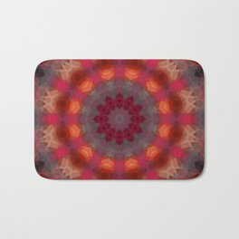 Colorful ethnic round pattern . Kaleidoscope. Bath Mat