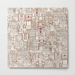gingerbread town Metal Print