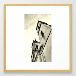 Church tower Framed Art Print