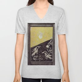 Birds of the moon Unisex V-Neck