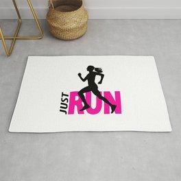 Running girl Rug
