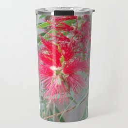 Bottle Brush Flower Travel Mug