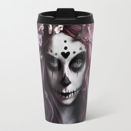Zombie face tattoo girl Travel Mug