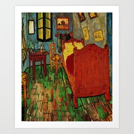 Van Gogh, bedroom in arles– Van Gogh,Vincent Van Gogh,impressionist,post-impressionism,brushwork,pai Art Print