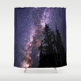 Celestial Starlight in the Forest Near  Lake Irene Colorado by OLena Art - brand Shower Curtain