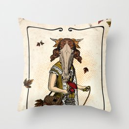 Mushroom Kid Throw Pillow