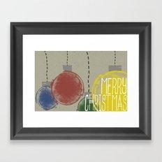 Merry Christmas Ornaments Framed Art Print