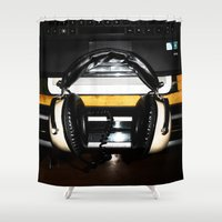 old school Shower Curtains featuring Old School by Anand Brai