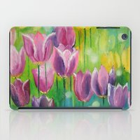 tulips iPad Cases featuring Tulips by OLHADARCHUK