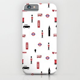 London pattern.London city.England. iPhone Case
