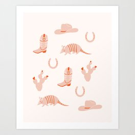 Western Print Art Print