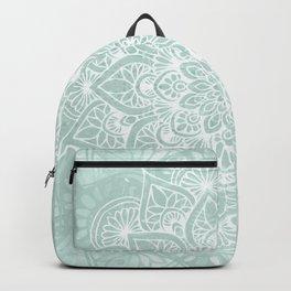Mandala, Yoga, Love, Flower of Life, Teal Green Backpack