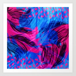 Going for an Abstract Swim Art Print