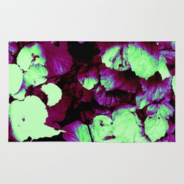 Ombre Leaves Rug