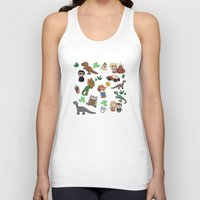 jurassic park Tank Tops featuring Jurassic Park Bits by Lacey Simpson
