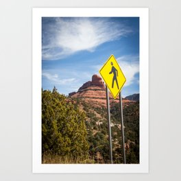A walk in Arizona Art Print