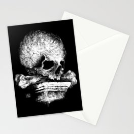 Skull on Pedestal Stationery Cards