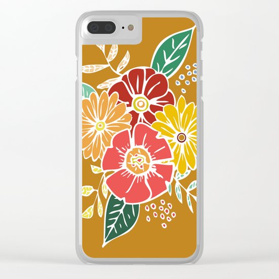 Abstract #369 Flower Power #9 Clear iPhone Case