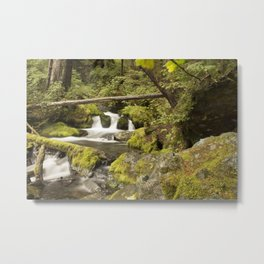 Alaska Waterfall Metal Print
