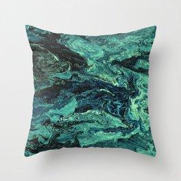 Storm at Sea Teal Throw Pillow