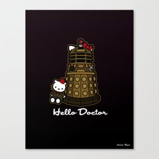 Hello Doctor Who Canvas Print