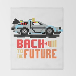 Back to the future: Delorean Throw Blanket