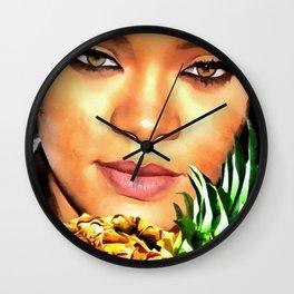 Rihanna Eyes Wall Clock