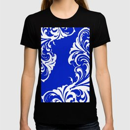 Damask Blue and White T-shirt