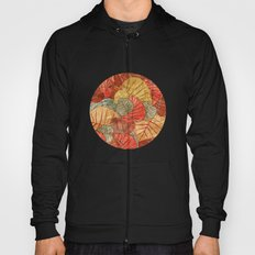Leaves in Rosy Background 4 Hoody