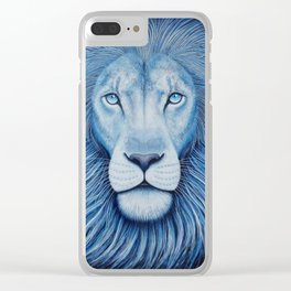 'Majesty' Star Lion Clear iPhone Case