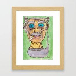Smoking Grandpas Framed Art Print