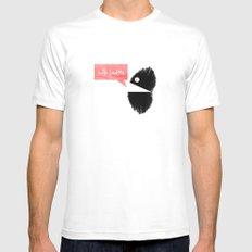 hello Ladies. Mens Fitted Tee White SMALL