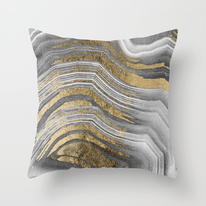 Abstract paint modern Throw Pillow by mmartabc