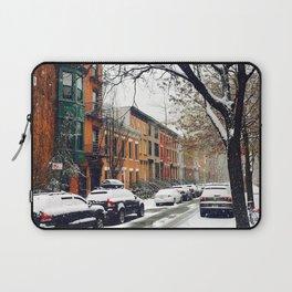 Brooklyn New York City Snow Showers Laptop Sleeve