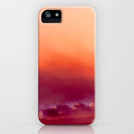 Winter-sun, in Iceland, Seltjarnarnes. iPhone Case