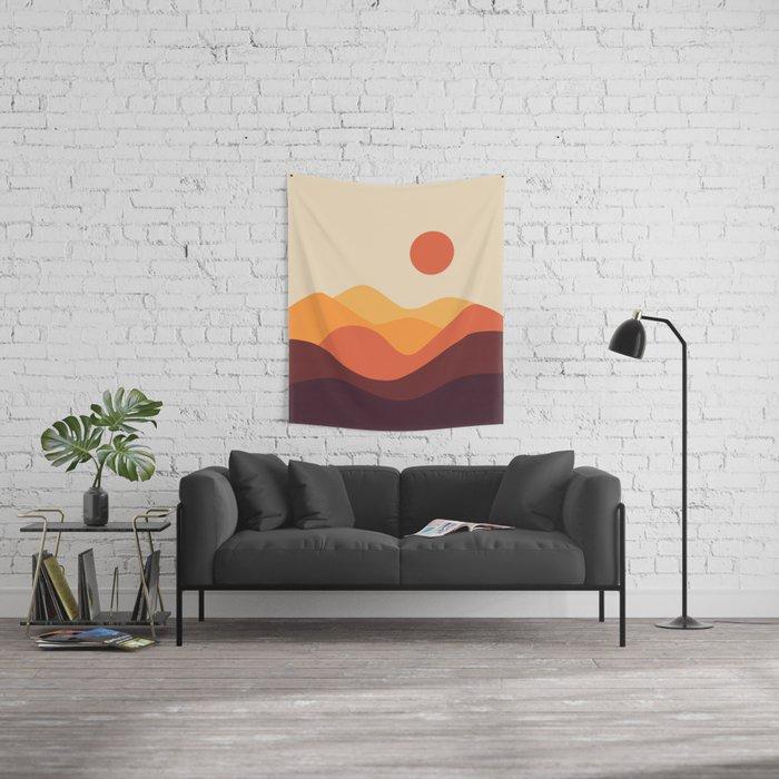 Geometric Landscape 21 Wall Tapestry