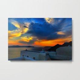 Santorini 28 Metal Print