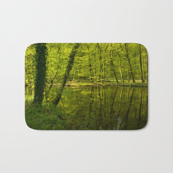 Forest lake pure relaxation for the Soul Bath Mat
