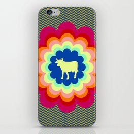 Cow Flower Power iPhone Skin