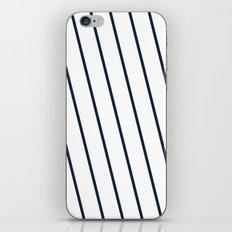 Yacht style. Navy blue diagonal stripes. iPhone & iPod Skin