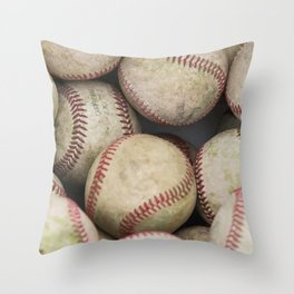 Many Baseballs - Background pattern Sports Illustration Throw Pillow
