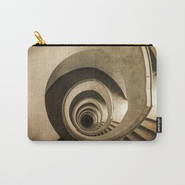 Spiral staircase in brown tones Carry-All Pouch