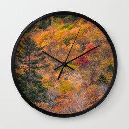 Fall Foliage Wall Clock