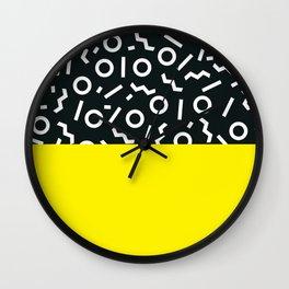 Memphis pattern 51 Wall Clock