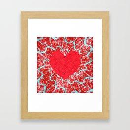 Frosty heart Framed Art Print