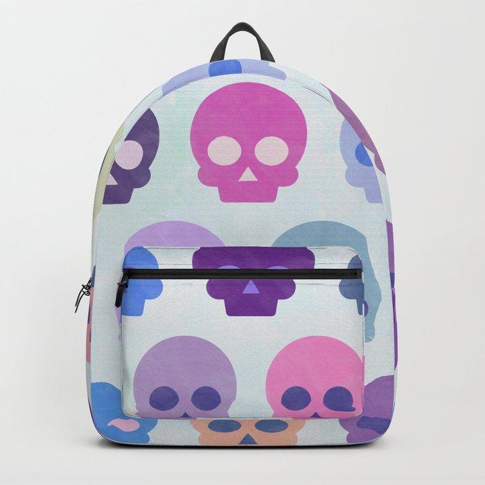 Colorful Skull Cute Pattern III Backpack