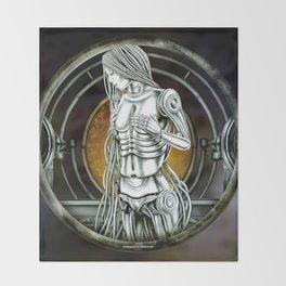 """""""Astrological Mechanism - Virgo"""" Throw Blanket"""