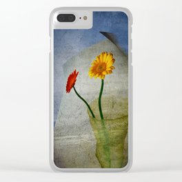 Blowing in the Wind Clear iPhone Case