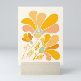 Summer Wildflowers in Golden Yellow Mini Art Print