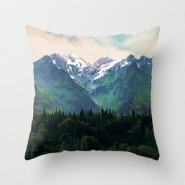 Escaping from woodland heights I Throw Pillow